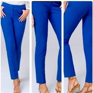WHBM Royal blue slim ankle ultra marine pants NWT